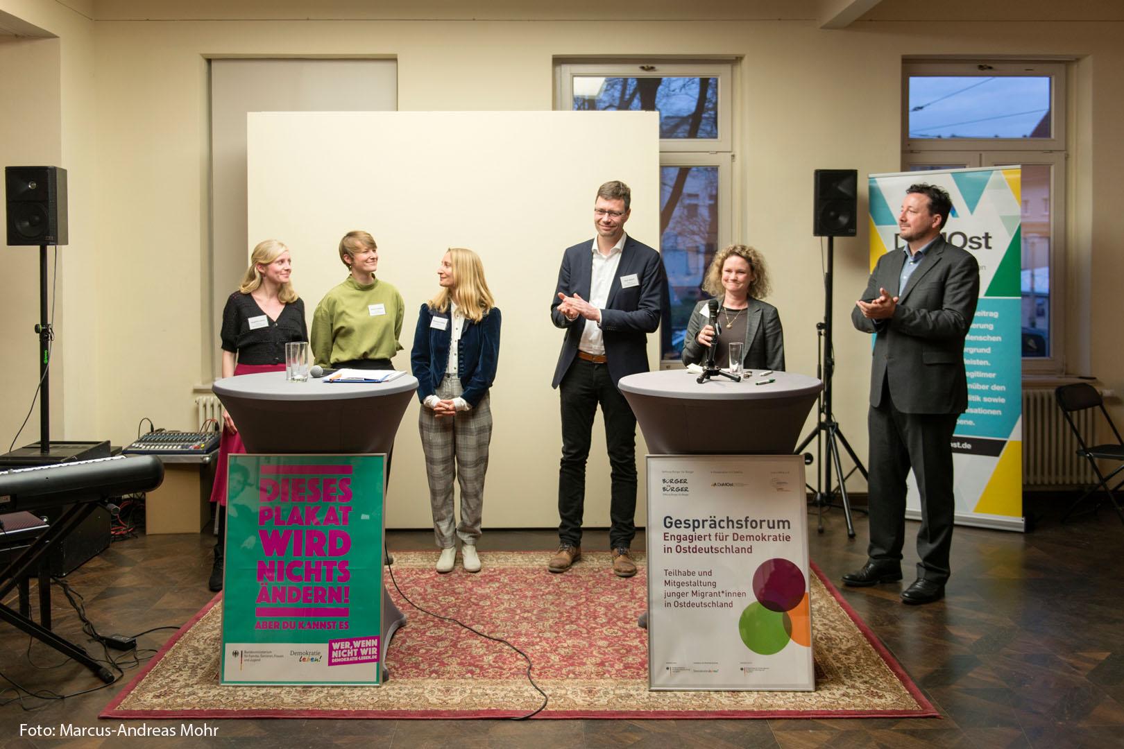 """Das Team des Modellprojekts """"Jugendstil"""" feiert den Projekt-Auftakt"""