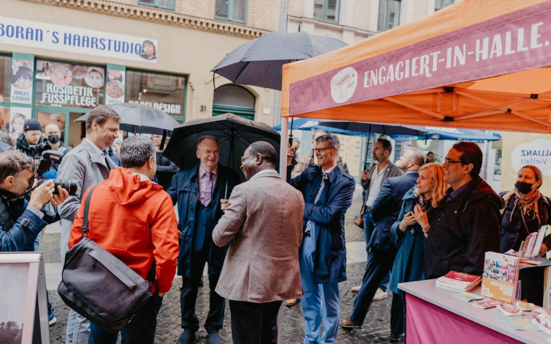 16 Tage im Zeichen der Demokratie – Unsere Aktivitäten während der EinheitsEXPO in Halle (Saale)